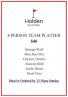 Holden Scramble – Team Platters